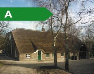 Hoe geweldig is dat! Alle tijdens de restauratie aangebrachte energiebesparende maatregelen heeft Boer d'Arij energielabel A opgeleverd!