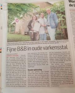 Joepie! In het AD Rotterdam-Oost, bedankt voor het leuke artikel Rob, Jan en natuurlijk ook Jannie en Henri Disberg uit Apeldoorn!